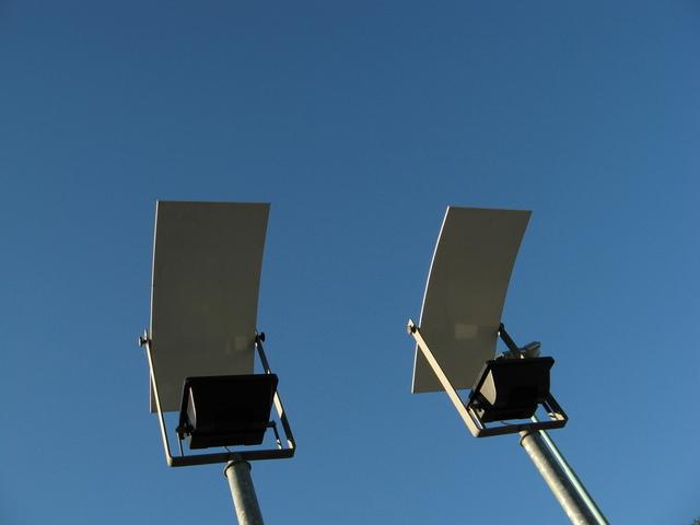 reflektory veřejného osvětlení